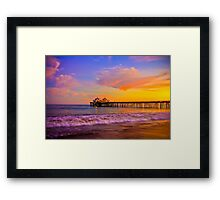 Sunset Light at Malibu Pier Framed Print