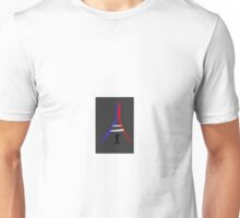 Flag Colored Eiffel Tower and Ribbon Unisex T-Shirt
