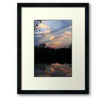 Hidden Mirror Lake, Lisle, IL Framed Print