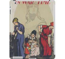 The Frenchwoman in war time iPad Case/Skin