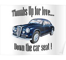 Love vintage car Poster
