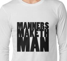KINGSMAN - Eggsy Manners Maketh Man Long Sleeve T-Shirt