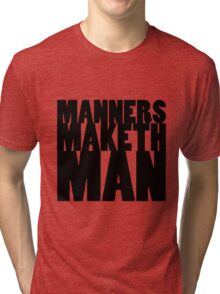 KINGSMAN - Eggsy Manners Maketh Man Tri-blend T-Shirt