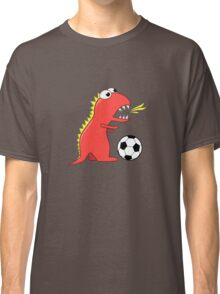 Blue Funny Cartoon Dinosaur Soccer Classic T-Shirt