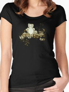 retro frog  Women's Fitted Scoop T-Shirt