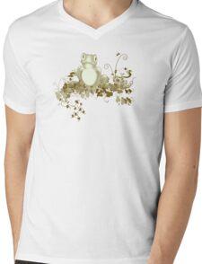 retro frog  Mens V-Neck T-Shirt