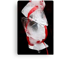 Ribbons & Ice Canvas Print