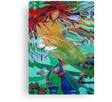 Mermaid and Butterflies Canvas Print