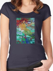 Mermaid and Butterflies Women's Fitted Scoop T-Shirt