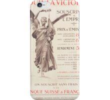 Pour la victoire souscrivez á lEmprunt Banque Suisse & Française iPhone Case/Skin