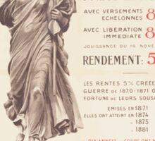 Pour la victoire souscrivez á lEmprunt Banque Suisse & Française Sticker