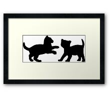 Kittens Playing Framed Print