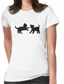 Kittens Playing Womens Fitted T-Shirt