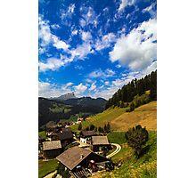 La Villa (Wengen), Dolomites Photographic Print