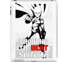training to beat saitama!! OnePunch - Man iPad Case/Skin