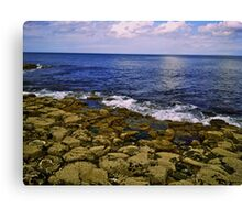 The Giant's Causeway and the Sea Canvas Print