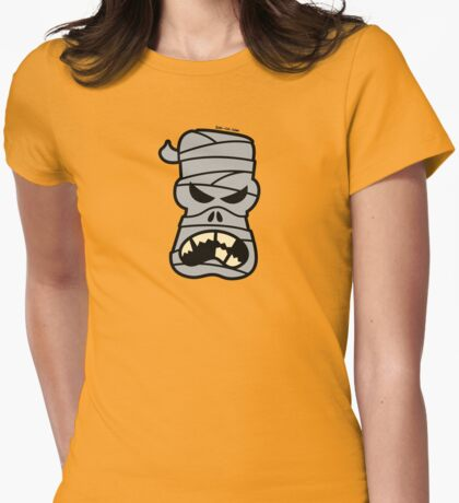 Angry Halloween Mummy Womens Fitted T-Shirt