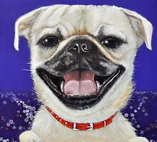 Pug Love by Melanie Pople