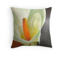 Large Calla Lily Throw Pillow