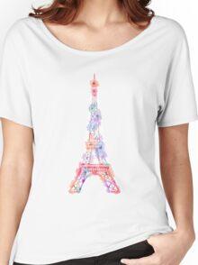 Flower Eiffel Tower Paris Women's Relaxed Fit T-Shirt