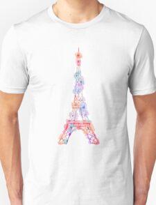 Flower Eiffel Tower Paris T-Shirt