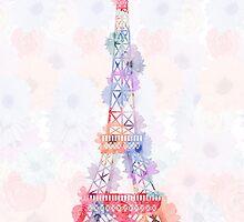 Flower Eiffel Tower Paris by MartaOlgaKlara