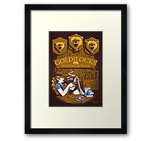 Goldilocks Hunting Supplies (Print Version) Framed Print