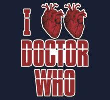 I Heart Heart Doctor Who (v3) Kids Tee