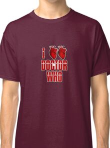 I Heart Heart Doctor Who (v3) Classic T-Shirt