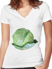 Eat your veggies! Women's Fitted V-Neck T-Shirt
