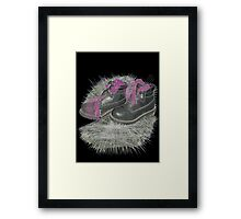 tentacles in my boots  Framed Print