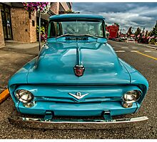 Aqua Ford Photographic Print