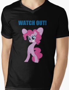Pinkie Pie - WATCH OUT! Mens V-Neck T-Shirt