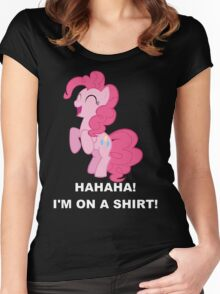 Pinkie Pie - Laughter Women's Fitted Scoop T-Shirt