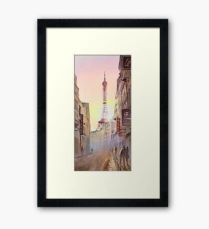 Eiffel Tower Paris France Framed Print