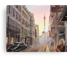 Rue Saint Dominique - Eiffel Tower View Canvas Print