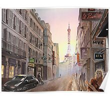 Rue Saint Dominique - Eiffel Tower View Poster