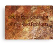 Disclosure Canvas Print