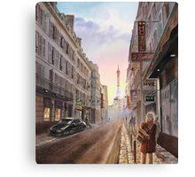 Rue Saint Dominique - Eiffel Tower - Paris, France Canvas Print