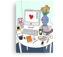 New Yorker's Desk Metal Print