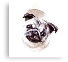 Pugs and Kisses Canvas Print