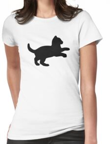 Playful Kitten Womens Fitted T-Shirt