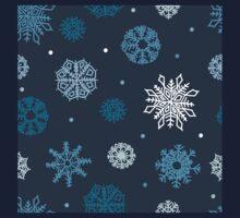 Beautiful snowflakes seamless ornament  Kids Tee