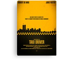 "Movie Poster - ""TAXI DRIVER"" Canvas Print"