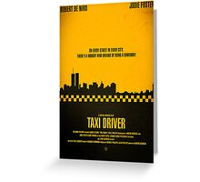 "Movie Poster - ""TAXI DRIVER"" Greeting Card"