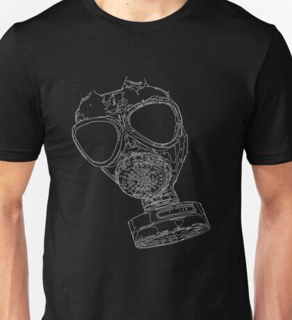 gas mask white  Unisex T-Shirt