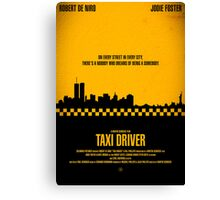 "Movie Poster - ""TAXI DRIVER"" (Clean) Canvas Print"