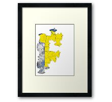 the t-shirt puzzle Framed Print