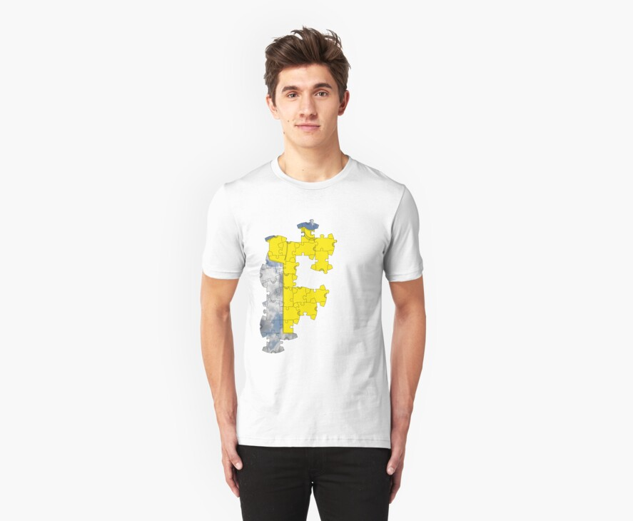 the t-shirt puzzle by IanByfordArt