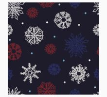 Beautiful snowflakes seamless ornament Kids Clothes